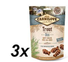 Carnilove przysmak dla psów Dog Semi Moist Snack Trout enriched with Dill 3x200g