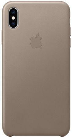 Apple usnjeni ovitek za iPhone XS Max, siv MRWR2ZM/A