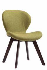 BHM Germany Jídelní židle Timar textil, nohy ořech