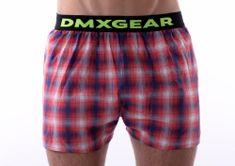 DMXGEAR luxusní pánské volné trenýrky Red Tartan