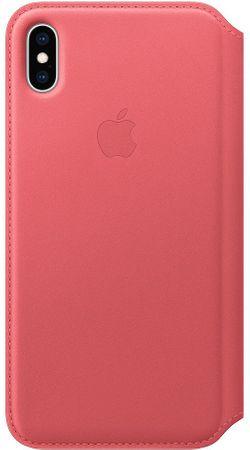 Apple kožené pouzdro Folio na iPhone XS Max, pivoňkově růžová MRX62ZM/A