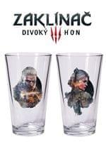 Kieliszki Wiedźmin 3 - Set Geralt i Ciri