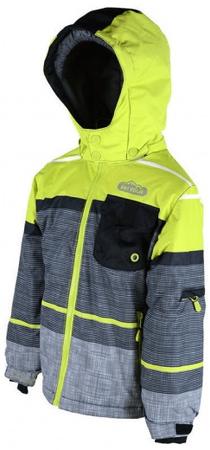 PIDILIDI skijaška jakna za djevojčice, sivo zelena, 98/104