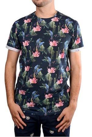 2982237eaa9d Pánske modré tričko s potlačou Cocos Navy 4276712 (Veľkosť M) ...