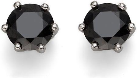 Oliver Weber Morning Brilliance Medium ezüst fülbevaló fekete kristállyal 62066 BLA ezüst 925/1000