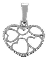 Brilio Silver Bicie serca wisiorek 441 001 02068 04 - 0,52 g srebro 925/1000