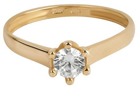 d35010bb4 Brilio Zlatý zásnubný prsteň s čírym kryštálom 226 001 00927 (Obvod 56 mm)  žlté