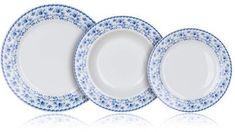 Banquet zestaw talerzy BLUEBELL, 18 sztuk