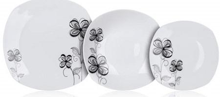 Banquet FLOREA square tányérkészlet, 18 db