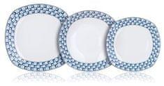 Banquet zestaw kwadratowych talerzy, 18 szt.