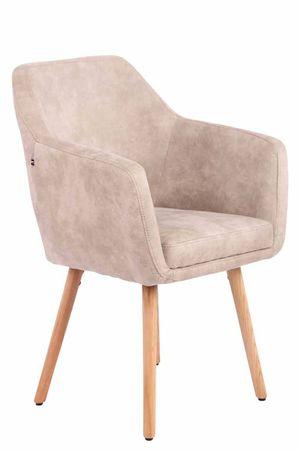 BHM Germany Jídelní židle Tappa, přírodní nohy, vintage, krémová
