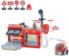 Wiky Tűzoltóállomás rádióval és autóval