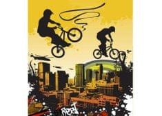 Dimex Fototapeta MS-3-0326 Bicykle v žltom 225 x 250 cm