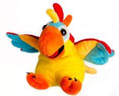 Teddies pluszowa, rapująca papuga DJ, 25 cm