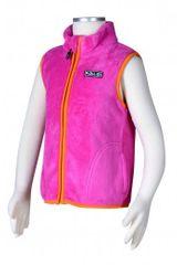PIDILIDI Dívčí fleecová vesta - růžová