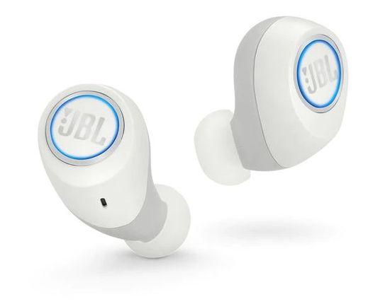JBL Free bezdrátová sluchátka, bílá - zánovní