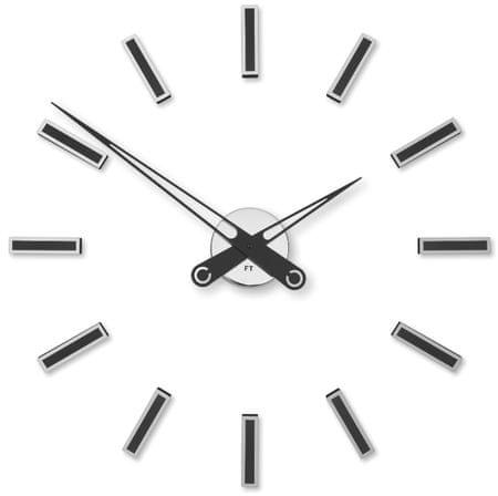Future Time zidni sat s naljepnicom FT9600BK, crni, 60 cm