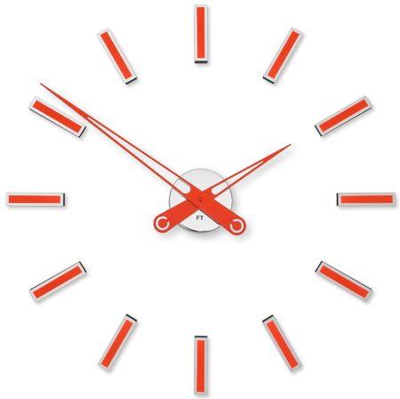 Future Time Dizajnové nalepovacie hodiny FT9600RD červená