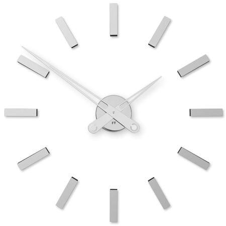 Future Time Dizajnové nalepovacie hodiny FT9600SI chróm