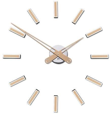 Future Time Dizajnové nalepovacie hodiny FT9600CM šampaň