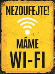 Postershop Plechová tabuľa - Máme Wi-Fi