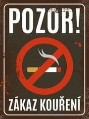 Postershop Plechová tabuľa - Zákaz fajčenia