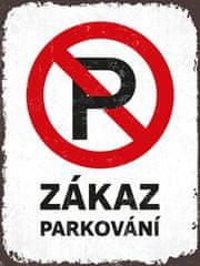 Postershop Plechová tabuľa - Zákaz parkovania