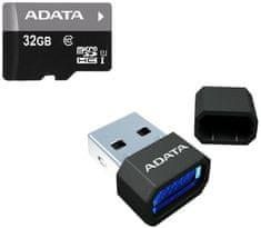 A-Data Micro SDHC Premier 32GB UHS-I + USB čtečka (AUSDH32GUICL10-RM3BKBL)