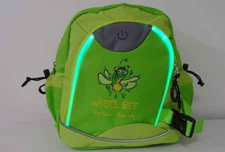 Wheel Bee otroški nahrbtnik Kiddy Bee z LED svetilko