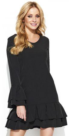 Makadamia dámské šaty 36 čierna