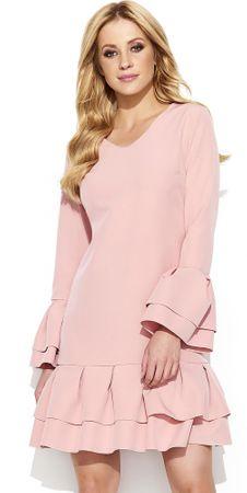 Makadamia dámské šaty 40 ružová