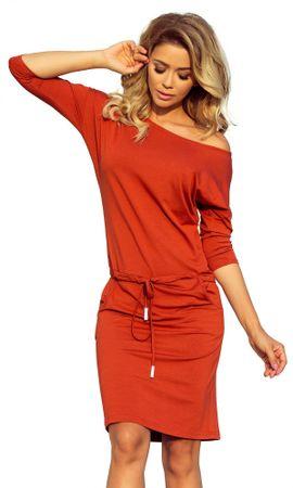 Numoco dámské šaty XL oranžová