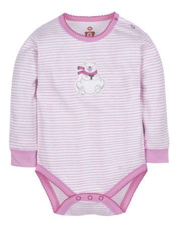 G-mini dziecięce body Niedźwiadek, 62, białe/różowe
