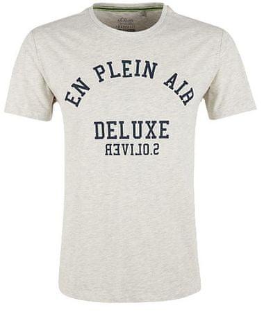 f25435559dca s.Oliver pánské tričko XL smotanová