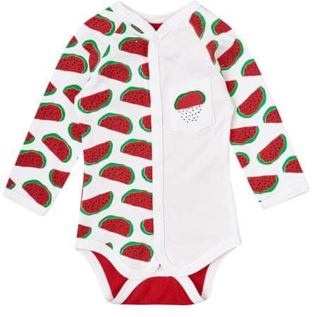 Garnamama Body dziecięce z melonami 56 biały/czerwony