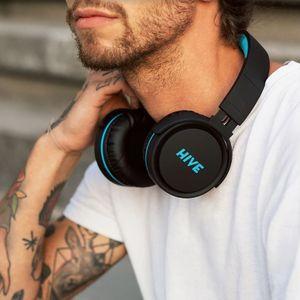 Niceboy HIVE XL vezeték nélküli fejhallgató vezérlés a fejhallgatón