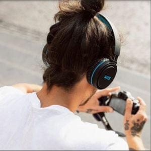 Niceboy HIVE XL vezeték nélküli fejhallgató 20 órányi akkumulátor élettartam