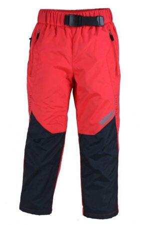 PIDILIDI Dievčenské ľahké outdoorové nohavice 98 červené