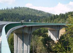 Allegria bungee jumping z nejvyššího mostu v ČR Chomutov