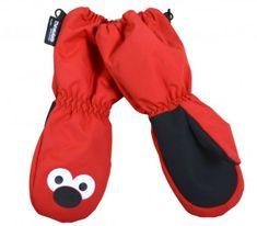 PIDILIDI Dívčí palcové rukavice - červené