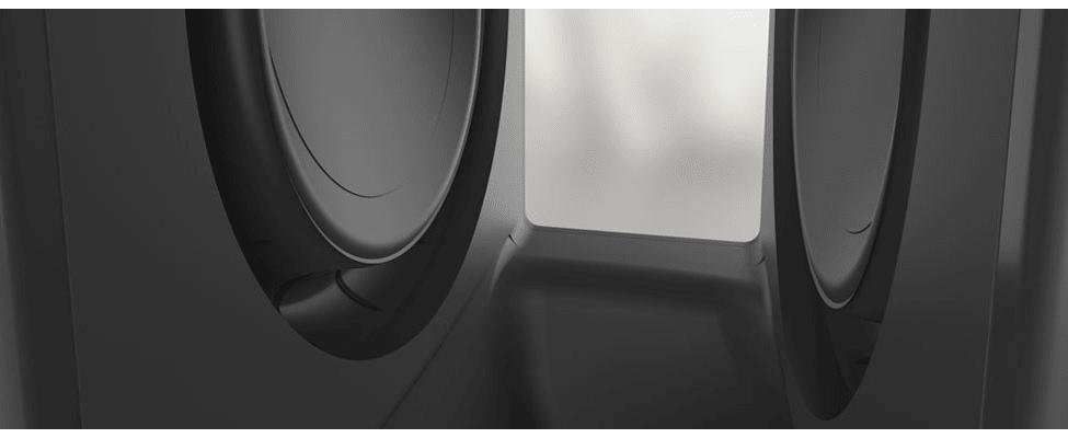 subwoofer Sonos SUB bez vibrací 2 měniče naproti sobě