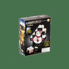 Light Stax Svietiaca stavebnica Puzzle Set (Snowman)