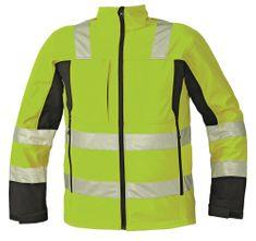 Cerva Reflexná softshellová bunda Malton žltá S