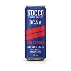 NOCCO Drink BCAA 330 ml, červená ríbezľa/černica