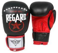 """REGARD Boxerské rukavice """"Triple Six"""", černá 10oz"""