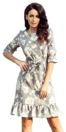 Numoco ženska obleka, L, siva