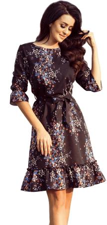 Numoco ženska obleka, črna, L