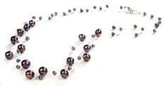 JwL Luxury Pearls Sötét színű igazgyöngy nyaklánc JL0325 ezüst 925/1000