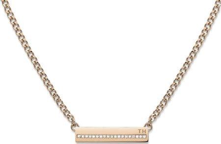 Tommy Hilfiger Vörös arany nyaklánc kristályokkal TH2700920