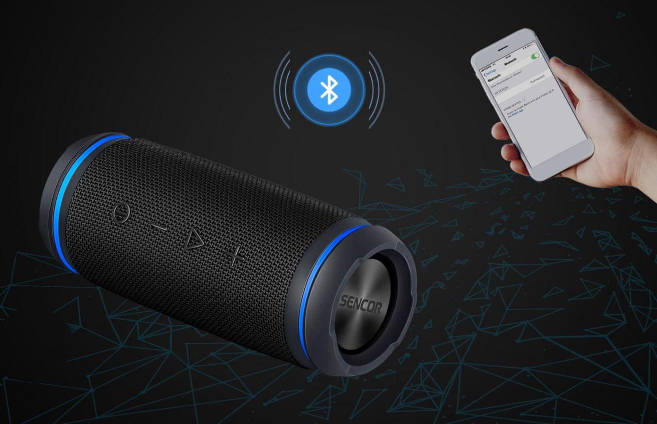 Sencor Sirius SSS 6400N Bluetooth vezeték nélküli hangfal 15 m-es hatókör NFC gyors párosítás